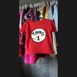 Dr. Seuss theme - Thing 1 red cute shirt sz 3t